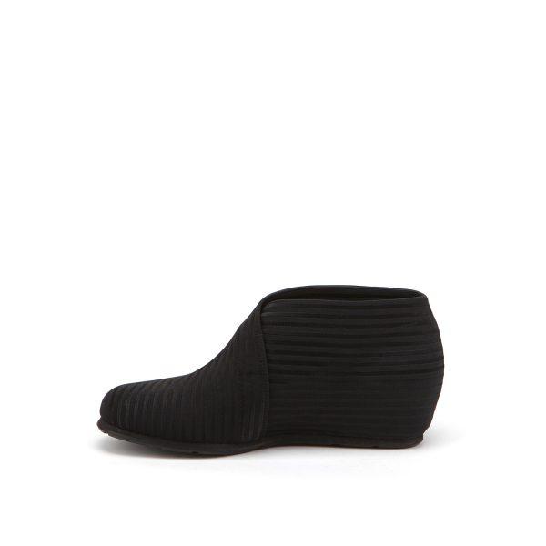 United Nude Fold Lo Black Rib Elastic Boot